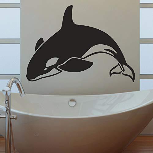 Wandaufkleber Kinderzimmer Wandtattoo Schlafzimmer Orca Killerwal Badezimmer Wohnzimmer Schlafzimmer zeitgenössische Abziehbild Fenster Stick -
