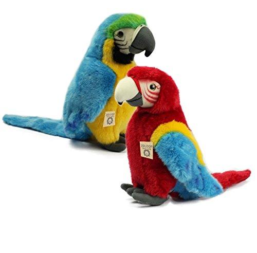 Papagei Ara Versch. Farben Plüschtier Kuscheltier Stofftier Plüschpapagei 59 von Zaloop (Blau)