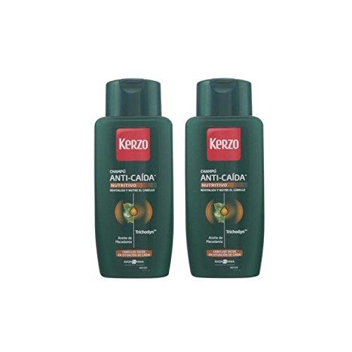 Kerzo 1095-50729 Frecuencia Anti Caida Nutritivo Seco Shampoo Pack 2 Units 800 ml
