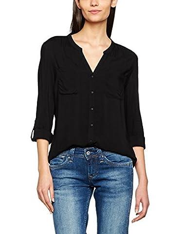 ONLY Damen Regular Fit Bluse onlFIRST LS POCKET SHIRT NOOS WVN 15133028, Gr. 42, Schwarz (Black)
