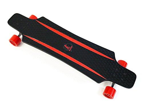 MAXOfit® Kunststoff Longboard XP 5.0 (rot/rot), 92 cm, extrem robust und sehr gut lenkbar, der neueste Trend