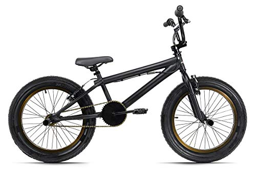 KS Cycling BMX Freestyle 20'' Fatt schwarz matt