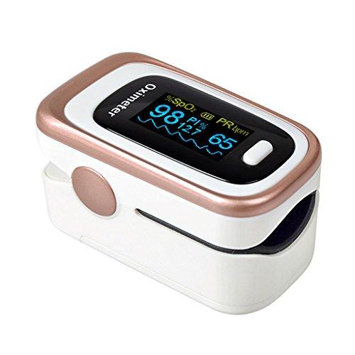 XXGI Fingerclip Oximeter Medizinische Überwachung Puls Blutsauerstoffsättigung Detektor Haushalt Finger Pulsmesser Und Blutzuckermessgerät Und Fingertip Pulsoximeter Und Pulsmesser (6,2 X 3,3X3,3 Cm) -