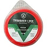 Labdhi International Agriculture Brush Cutter Weed Strimmer Grass Cutter 3MM Heavy Nylon Wire Eater Trimmer Line Square Shape 50 Meter