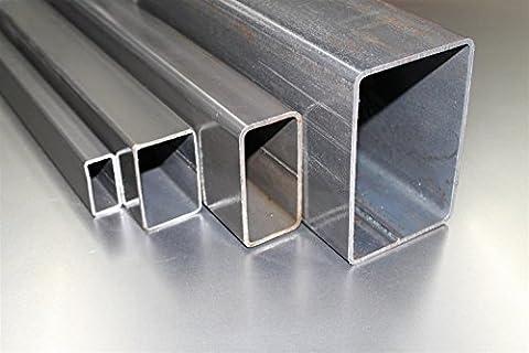 Rechteckrohr Quadratrohr Stahl Profilrohr Stahlrohr 60x30x2 von 100 - 3000mm - Länge in mm: 2000