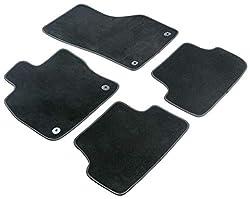 Walser Nadelfilz Velours Premium Fußmatten kompatibel mit Mercedes C-Klasse (CL203 C180-C320) Sportcoupé 03/2001 - 02/2011