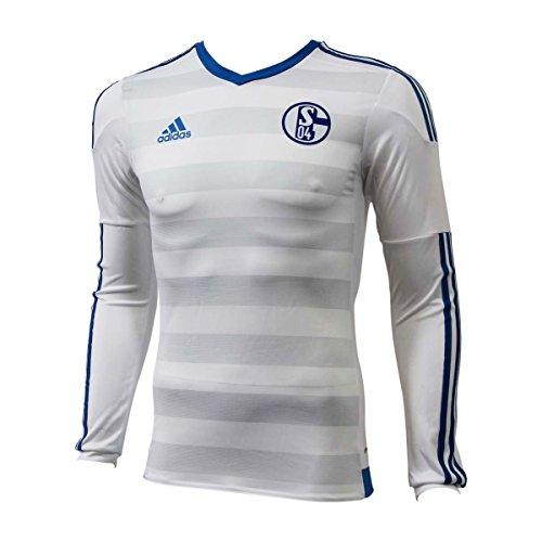 Adidas Performance SCHALKE 04 A JERSEY PL Weiss Herren Fussball Trikot Neu