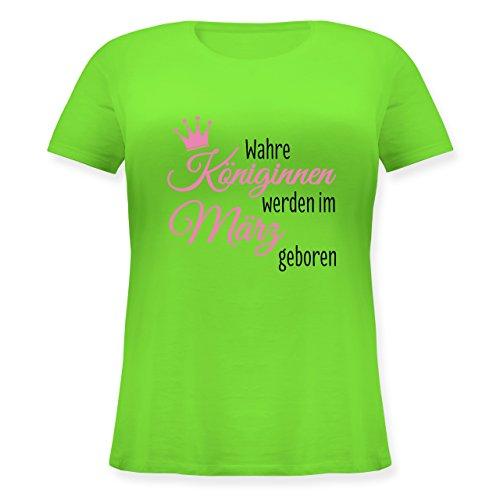 Geburtstag - Wahre Königinnen werden im März geboren - Lockeres Damen-Shirt  in großen Größen