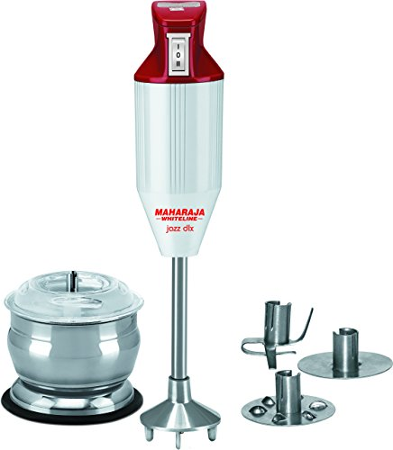 Maharaja Whiteline Jazz Deluxe Hb 106 125-watt Hand Blender With Attachment (red/white)