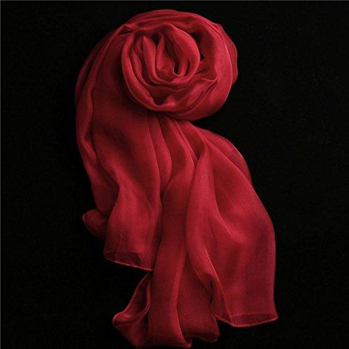 serviette de plage Lady Silk Solid Color Multi-couleur Écharpe à foulard en forme de foulard Long Shawl Foulard sauvage ( Couleur : #2 ) #11