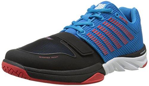 K-Swiss Performance X Court, Chaussures de Fitness Homme Bleu (Methylblue/black/fieryred)