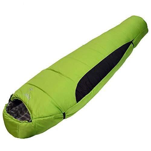 JIANPING Camping Schlafsack, Umschlag, Mumienform, leicht, tragbar, wasserdicht, perfekt für 0 Grad Reisen, Wandern, grüner Schlafsack a -