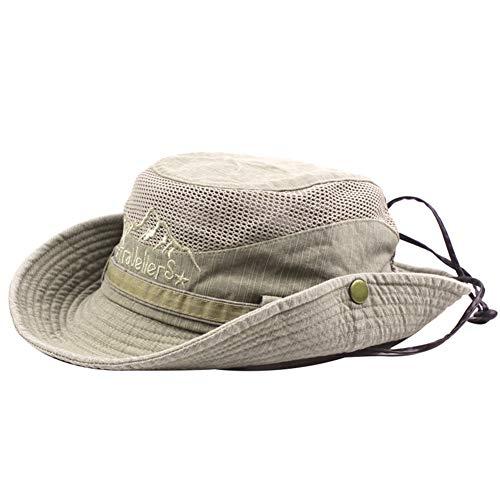Imagen de bigboba sombrero de pescador anti uv algodón sombrero redondo sombrero de montaña acampar al aire libre senderismo viajes para hombres mujeres caqui