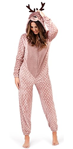 Tier Overall - Loungeable Damen Jumpsuit Overall Tiere Gesichter