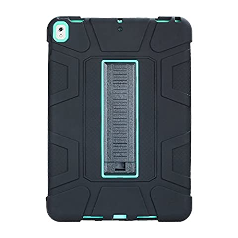 iPad Pro 10.5 Case,Shock Absorbing Heavy Duty Full-Body Protective Armor Case Cover with Kickstand [ Screen Protector Bonus ] for iPad Pro 10.5 inch 2017 Released ( Model A1701 A1709 ) - Mint /