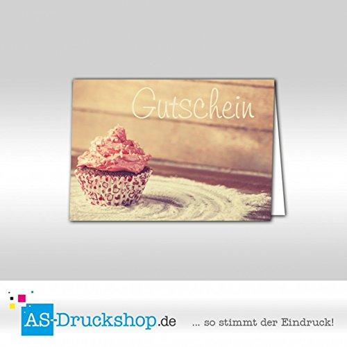 Gutschein Bäckerei Cupcake / 100 Stück / DIN A6