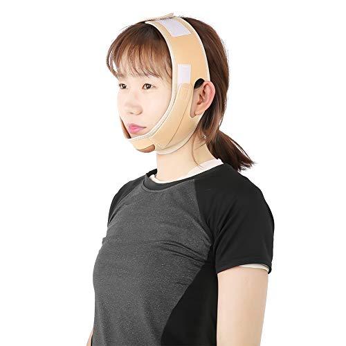 Gesicht Abnehmen Maske, Natürliches V Gesicht Wange Kinn Anheben Enge Band, Anti-Falten und strafft Haut Gesichtsmaske, Gesichtsformer Schlankheits Anti-Doppelkinn Gesichtsbandage(2#) -