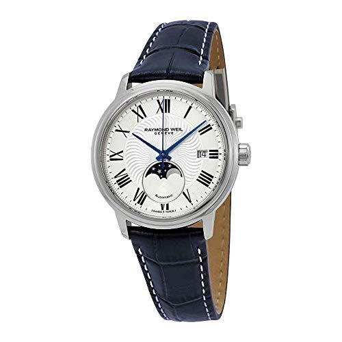 Raymond Weil maestro automatico argento quadrante mens orologio 2239-stc-00659