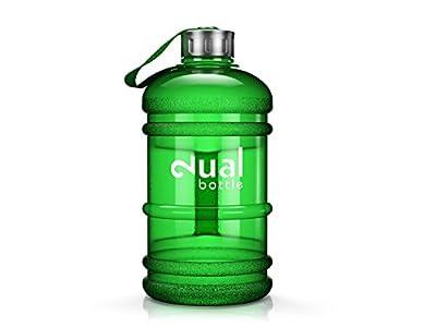 Dual Bottle / Water Jug / 2.2 Liter / Wasserflasche / Trinkflasche / Perfekt für den täglichen Wasserbedarf / Ideal für Training, Fitness und Sport / Wasser-flasche / Gallon / Water Gallon / Wasser Gallone / Wasser Gallon / Optimale Wasserdosis über den T