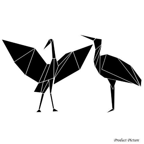Kran-Vogel-, Kran-Vögel, Origami (20 cm x 11 cm)Wählen Sie die Farbe 18 Farben auf Lager Badezimmer, Childs Schlafzimmer, Kinder Zimmer Aufkleber, Auto Vinyl-, Windows-und Wand-Aufkleber, Wand Windows-Kunst, Decals, Ornament-Vinylaufkleber ThatVinylPlace (Decal Window)