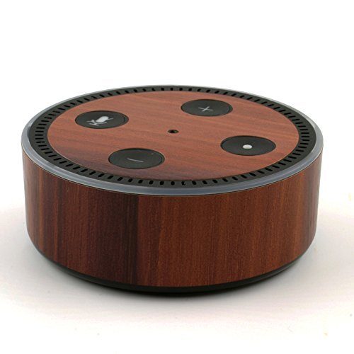 amazon-echo-dot-skin-dark-wood-mahogany-wrap
