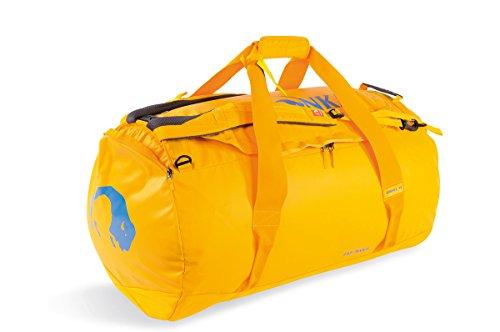 Tatonka Barrel XL Reisetasche - 110 Liter - wasserfeste Tasche aus LKW-Plane mit Rucksackfunktion und großer Reißverschluss-Öffnung - große Rucksacktasche - unisex - gelb
