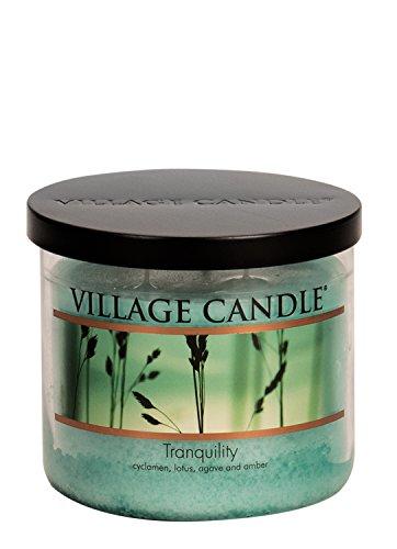 Village Candle Tranquility Duftkerze im Glas, 426 ml Medium (17 oz/503 ml) blau Jar-küche Dekor