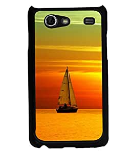 printtech Sunset Ship Back Case Cover for Samsung I9070 Galaxy S Advance :: Samsung Galaxy S II Lite