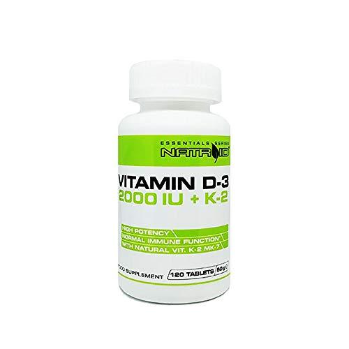 Natroid Vitamin D-3 2000IU + K2 120 Compresse