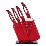 Cuchillos de Cerámica, Set cuchillos de cocina de cerámica, Juego de 4 Cuchillos Profesionales