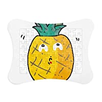 DIYthinker Pinapples Child Graffiti Fruit Emoji Paper Card Puzzle Frame Jigsaw Game Home Decoration Gift