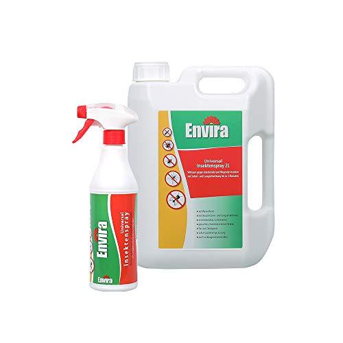 Envira Universal Insektenschutz - Hochwirksames Insekten-Spray Mit Langzeitschutz - Auf Wasserbasis - 500 ml & 2 Liter