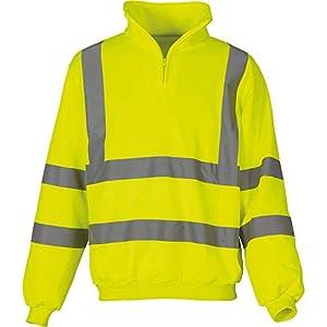 Yoko Herren yk031/hvk06Hi Vis ¼ Zip Sweatshirt