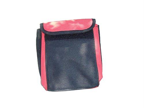 Bolsillo para pesa para cinturón de buceo y snorkel de repuesto, rojo