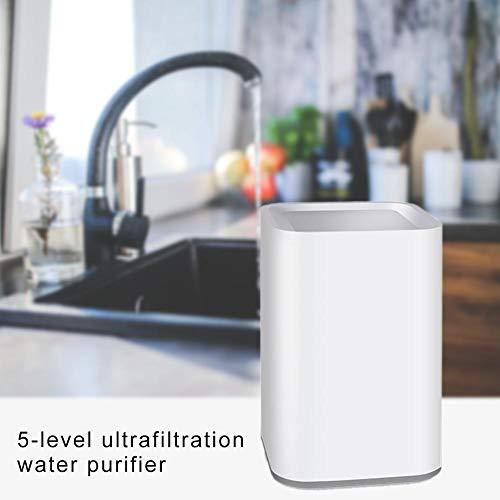 Rubyu Untertisch Trinkwassersystem inklusive 3-Wege-Zusatzarmatur Profi-Wassersprudler Spritziges Mineralwasser Sprudelwasser direkt aus der Küchenarmatur