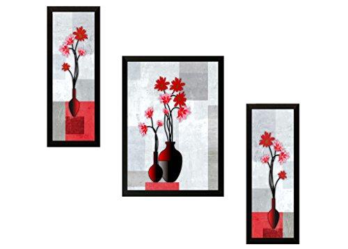 SAF UV Textured Flower Print Framed Painting (Synthetic, 35 cm x 2...