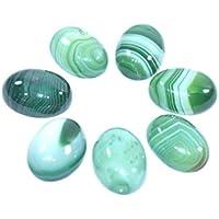Gem Stone - Green Onyx Set Of 5 Chakra Healing Crystal, Meditation Stones, Yoga Crystals, Palm Thumb Pocket Stones... preisvergleich bei billige-tabletten.eu