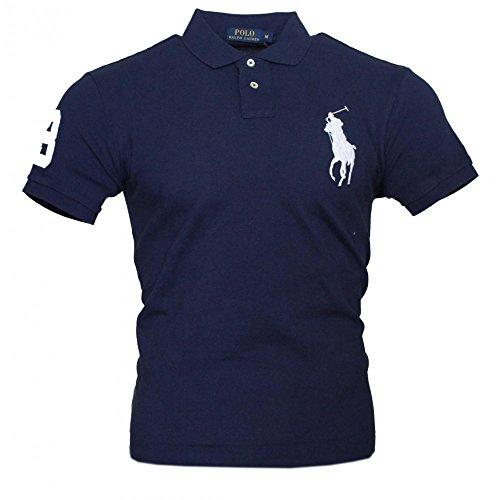 Big Pony Shirt (Ralph Lauren Herren Kurzarm Polo Shirt Big Pony (Navy, L))