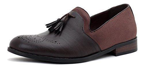 neuf pour hommes Robe élégant À Enfiler Gland Designer Mocassin Décontracté Brogue pointure de chaussures Café