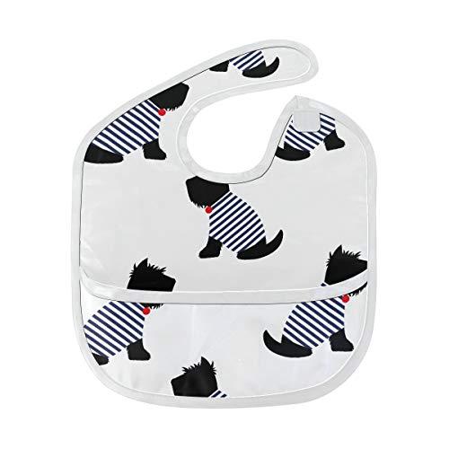 Lätzchen Mädchen Scottish Terrier In Einem Sailor T Shirt Nahtlose Patt Benutzerdefinierte Weichen Fleck Baby Fütterung Dribbeln Sabbern Lätzchen Rülpsen Für Kleinkinder 6-24 Monate Scottish Terrier -