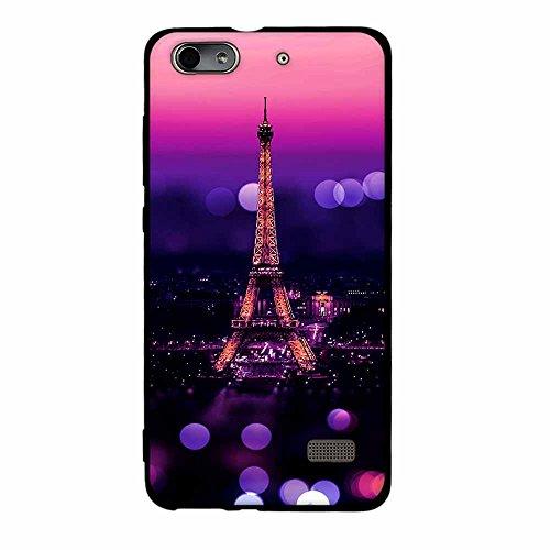 Fubaoda Huawei Honor 4C / G Play Mini Hülle, [Ehull Tower] Mode Kreatives Design Minimalist Ultra Thin Lightest Slim Fit Vollschutz Anti Schock Design Paar Geschenk für Huawei Honor 4C / G Play Mini