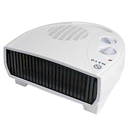 Glen GF30TSN 3KW Fan Heater, Plastic, 3000 W, White