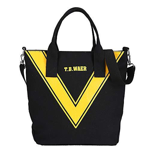 Large-Capacity Canvas Damenhandtasche Weiche Oberfläche Kühltasche Kann Auch Als Umhängetasche Oder Umhängetasche Schwarz Verwendet Werden