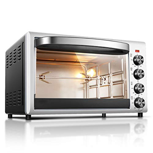 zhangxiaoli Mini-Öfen Gourmet Pizzaofen, Backautomat, 360 ° Drehbarer Grill, 38L-1800w Schnellaufheizung, Temperaturregelung Und Timer