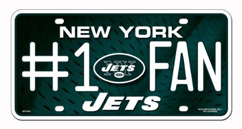 Preisvergleich Produktbild Unbekannt NFL 1 FAN Metall Auto Tag,  damen Kinder unisex Herren,  New York Jets