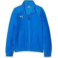 Puma Liga Sideline Jacket Jr Chaqueta, Primavera/Verano, Infantil, Color Electric Blue Lemonade-Puma White, tamaño 116