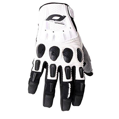O'Neal Butch Carbon Handschuhe Weiß Moto Cross Mountain Bike Enduro Carbon MTB MX, 0478-2, Größe Medium (Carbon Cross)