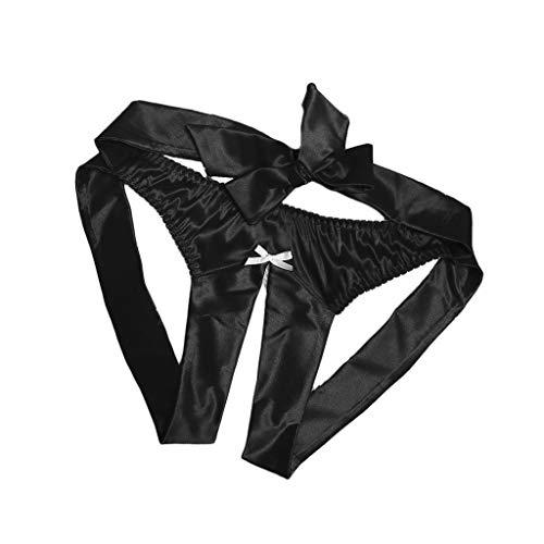 SHE.White Damen Sexy Unterwäsche Frauen Erotisch Zurück öffnen Krawatte Slip Briefs String Unterhose Nachtwäsche Nachthemd Sleepwear Nachthemden -