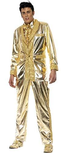 Roll Star Kostüm - Herren Kostüm, Elvis 1950er Jahre, 50er Jahre, Stars Musiker Rock n Roll Decades Kostüm, M & L (Medium)