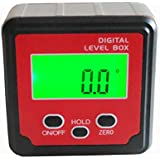 Medidor Digital de ángulo de 360° (+/-180°) calibre transportador de ángulos biselado caja inclinómetro con fuertes imanes de disco jy-180sxb (tres teclas & C)